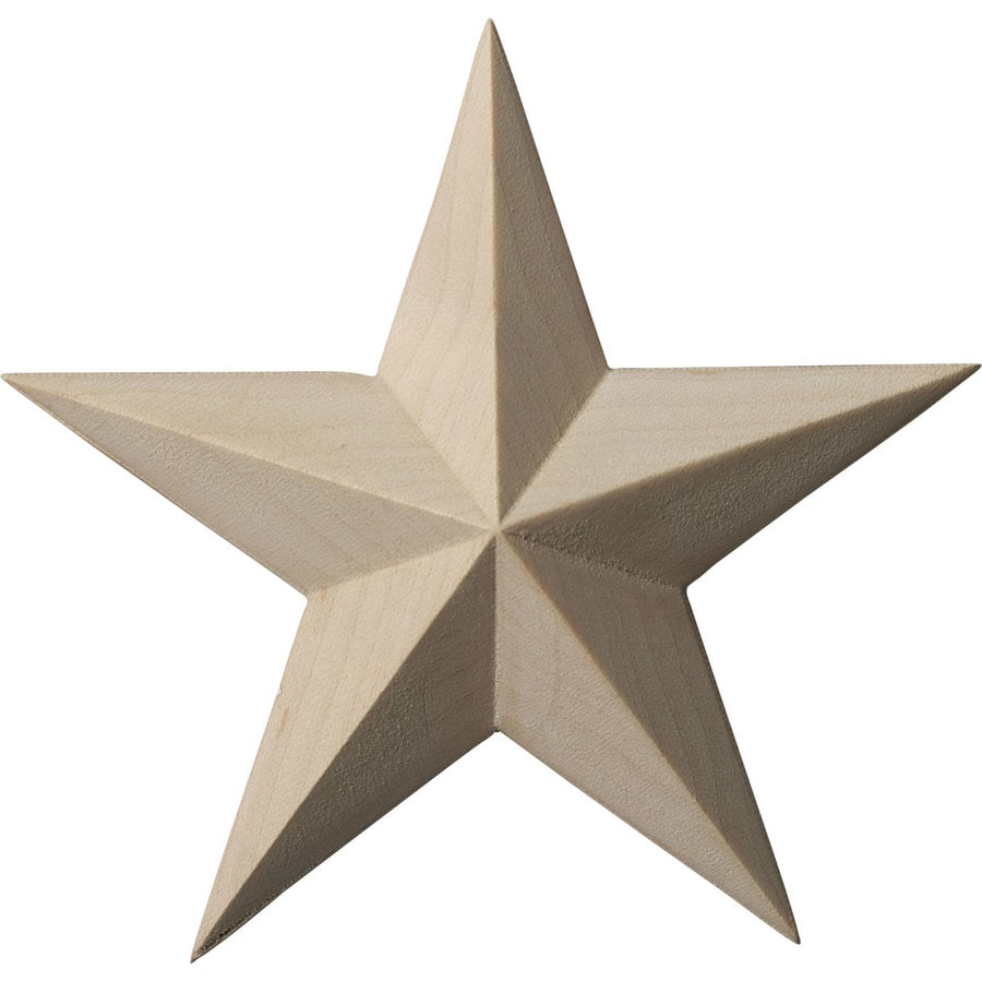Ekena Millwork 4.125-in x 4.125-in Galveston Star Wood Applique