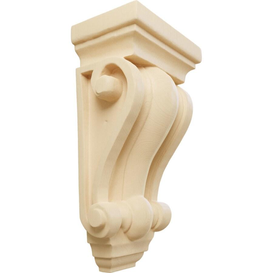 Ekena Millwork 4-in x 7.5-in Maple Cole Wood Corbel