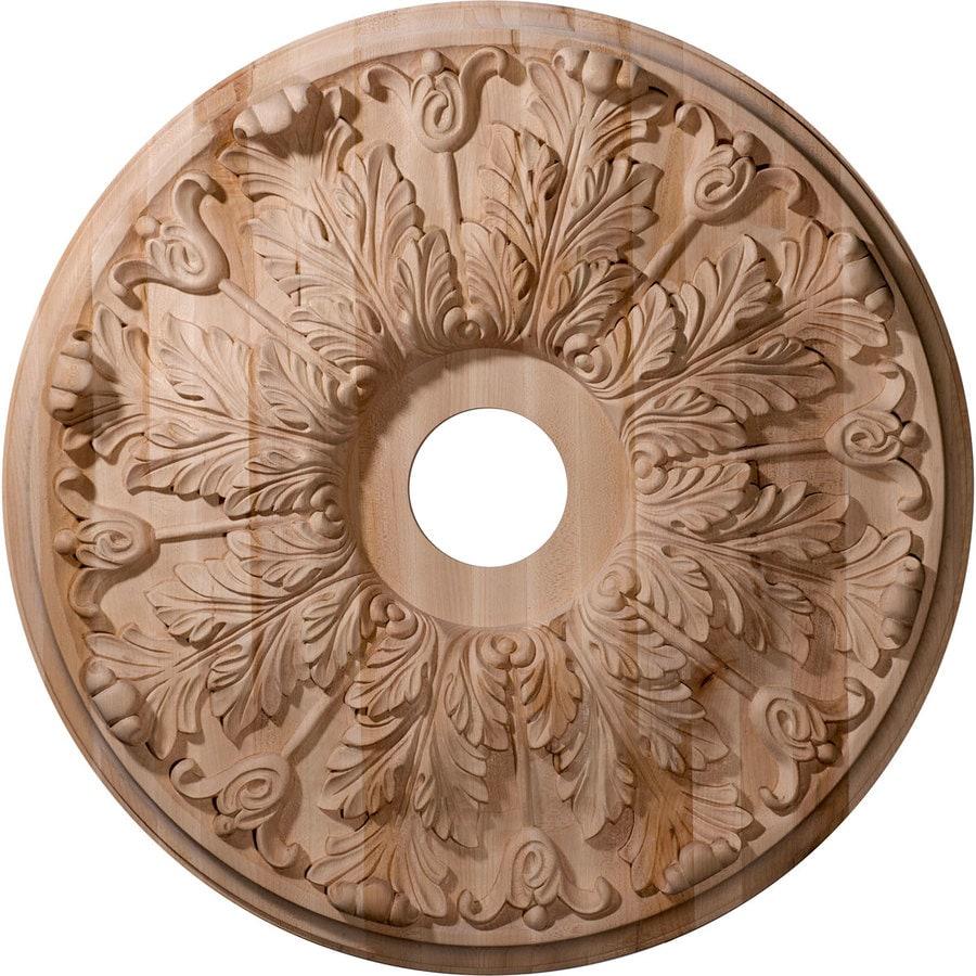 Ekena Millwork Florentine 24-in x 24-in Wood Ceiling Medallion