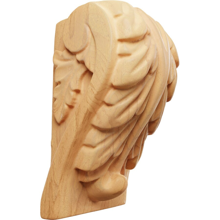 Ekena Millwork 1.75-in x 3-in Red Oak Acanthus Wood Corbel