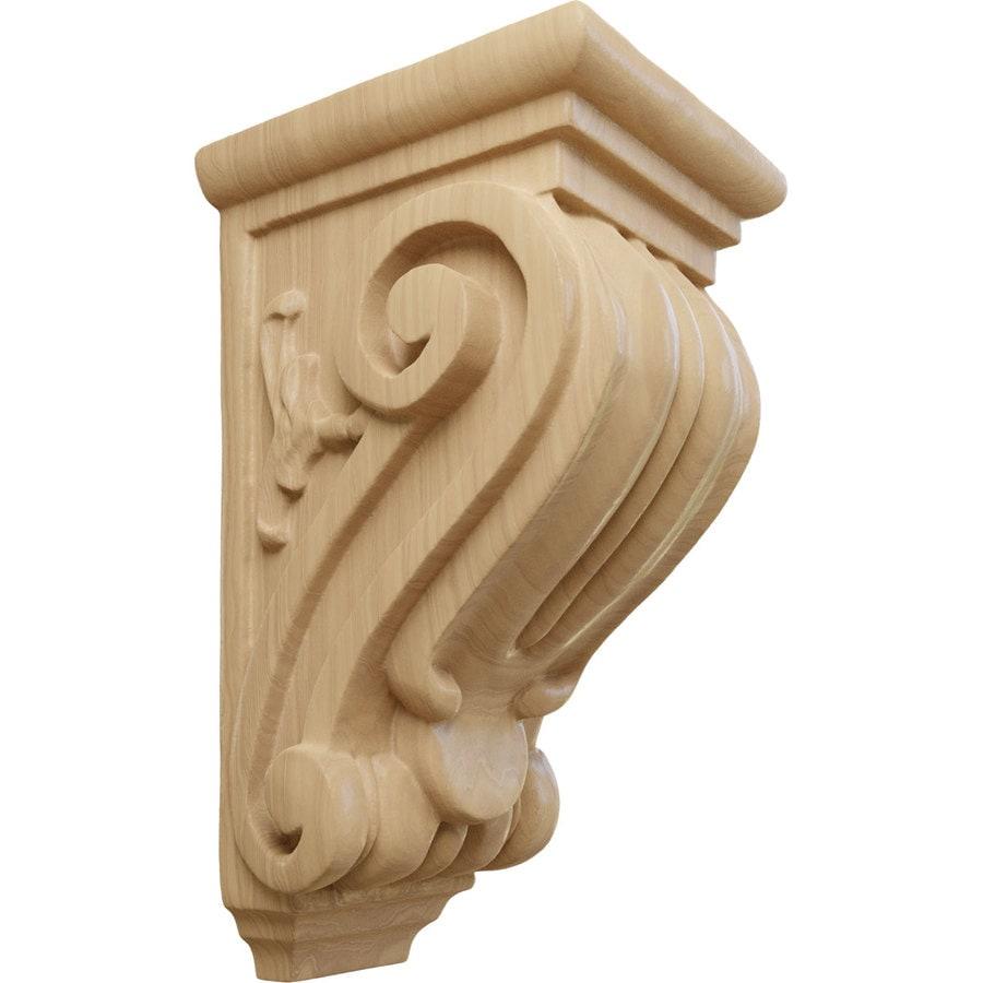 Ekena Millwork 3.5-in x 7-in Cherry Classical Wood Corbel