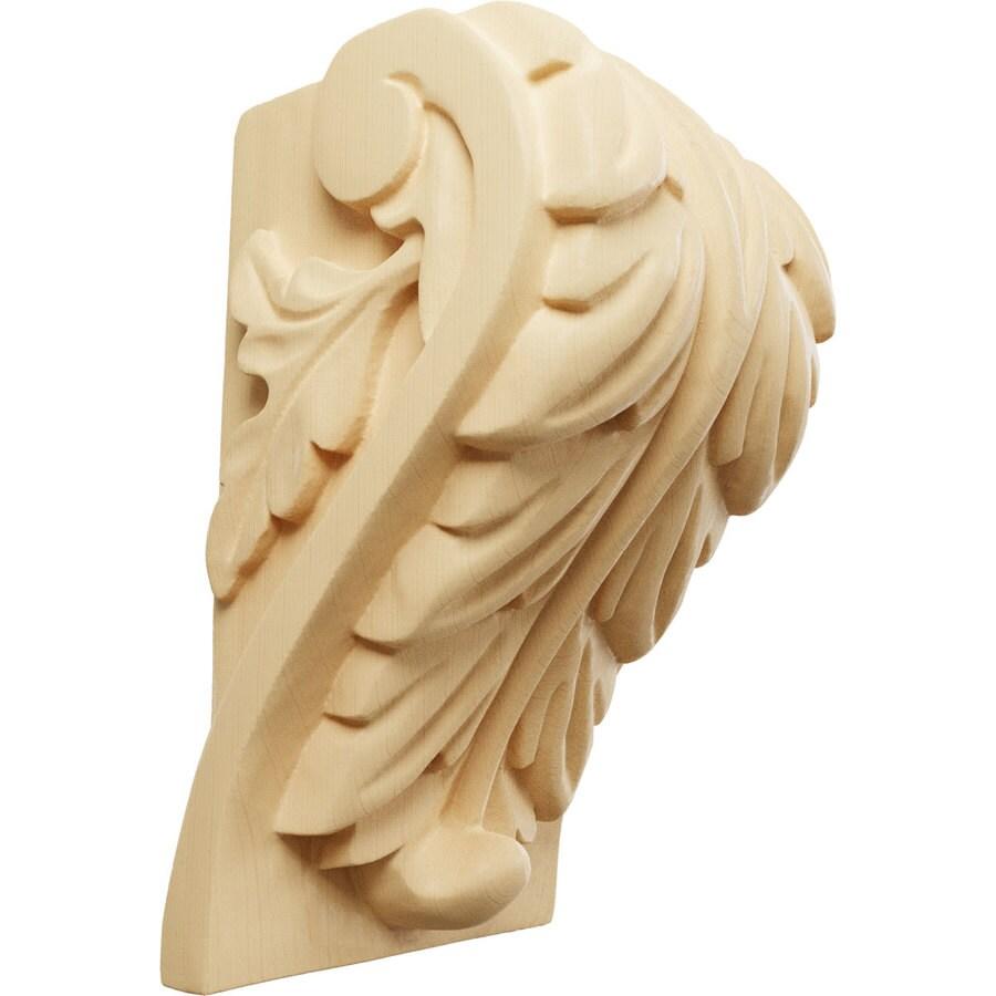 Ekena Millwork 3.75-in x 6-in Maple Acanthus Wood Corbel