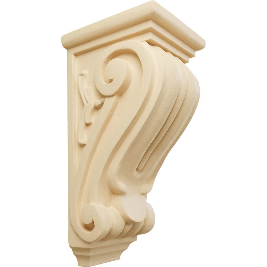 Ekena Millwork 4.5-in x 10-in Maple Classical Wood Corbel