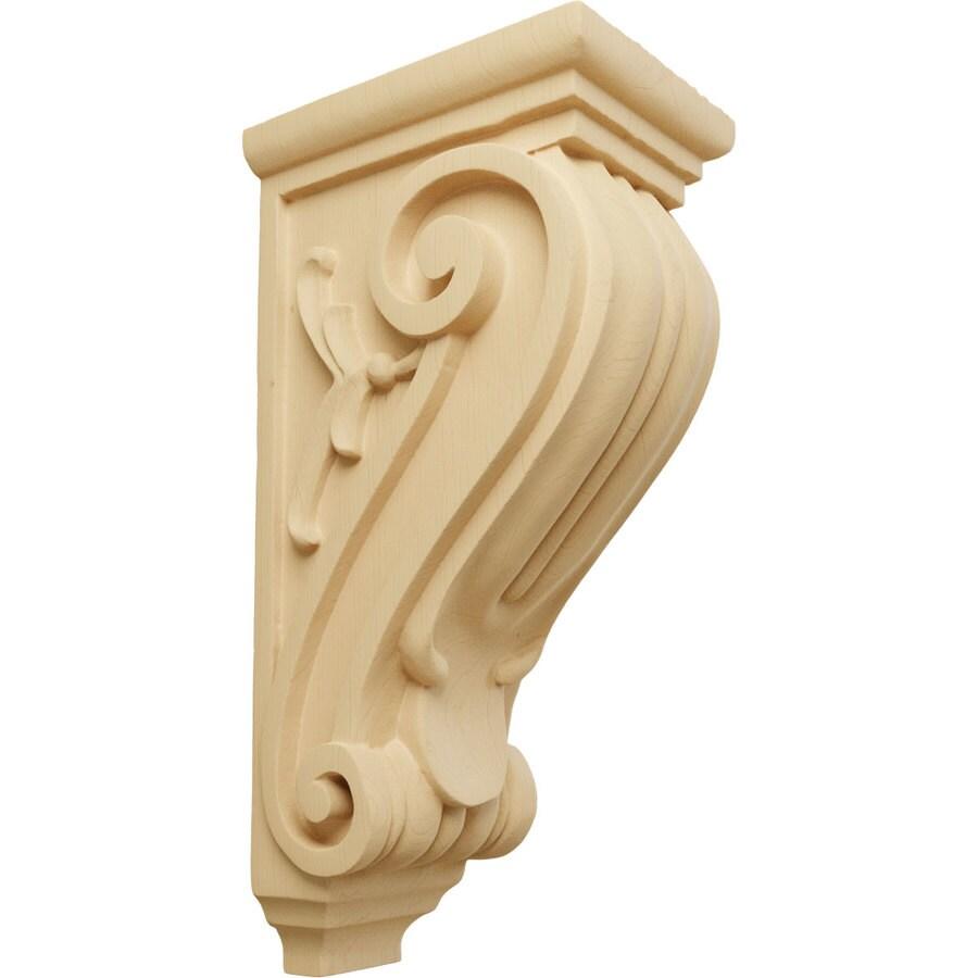 Ekena Millwork 5-in x 14-in Alder Classical Wood Corbel