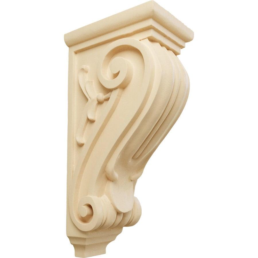 Ekena Millwork 5-in x 14-in Maple Classical Wood Corbel
