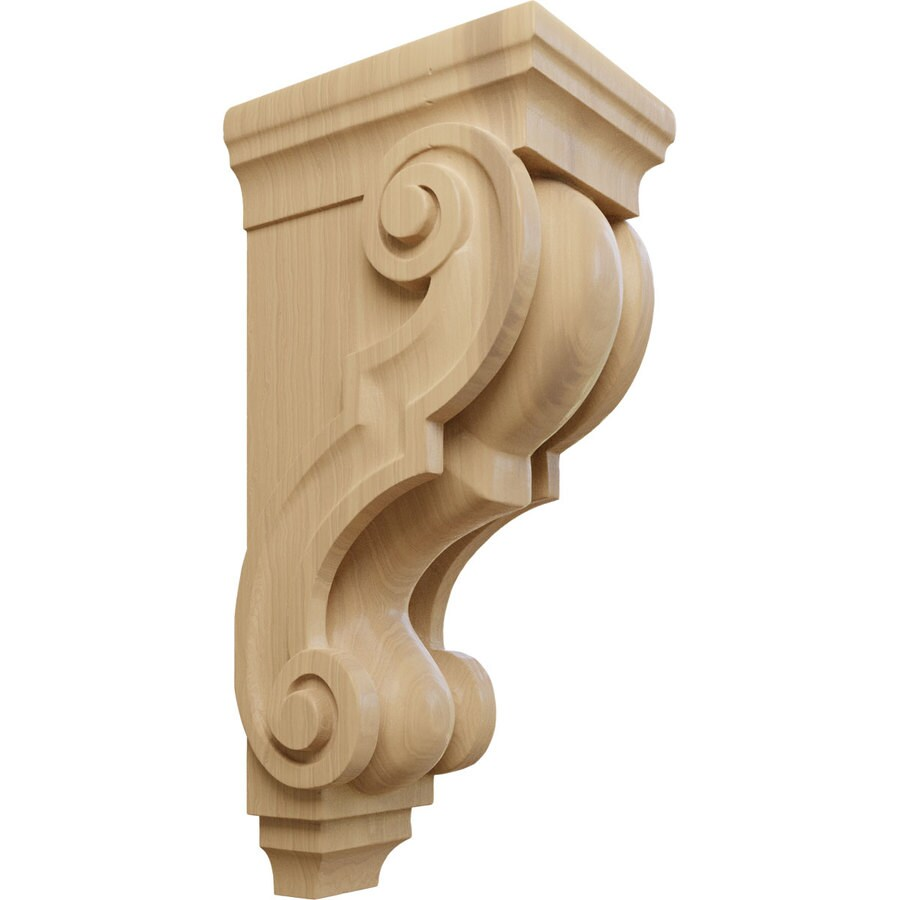 Ekena Millwork 5-in x 14-in Cherry Traditional Wood Corbel