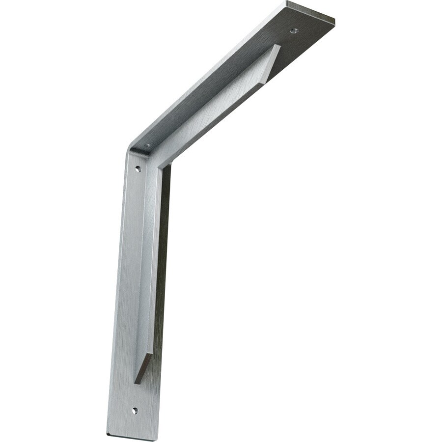Ekena Millwork Stockport 12-in x 2-in x 12-in Plain Steel Countertop Support Bracket