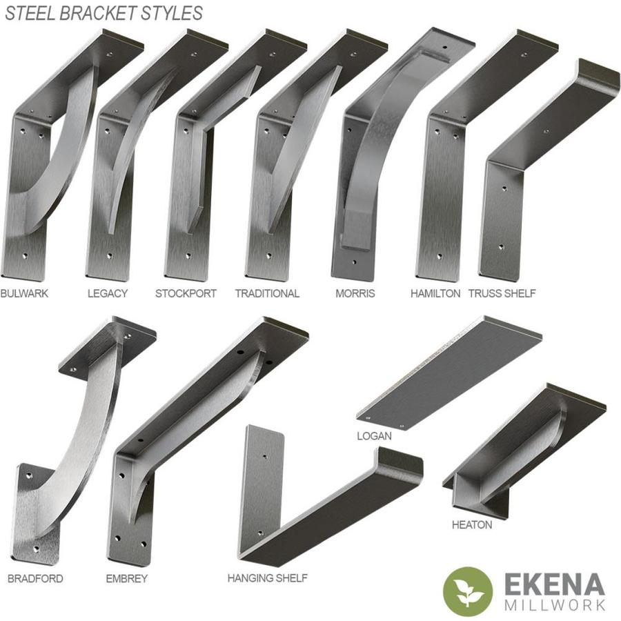 Steel Ekena Millwork BKTM02X14X14HACRS  2-Inch W x 14-Inch D x 14-Inch H Hamilton Bracket
