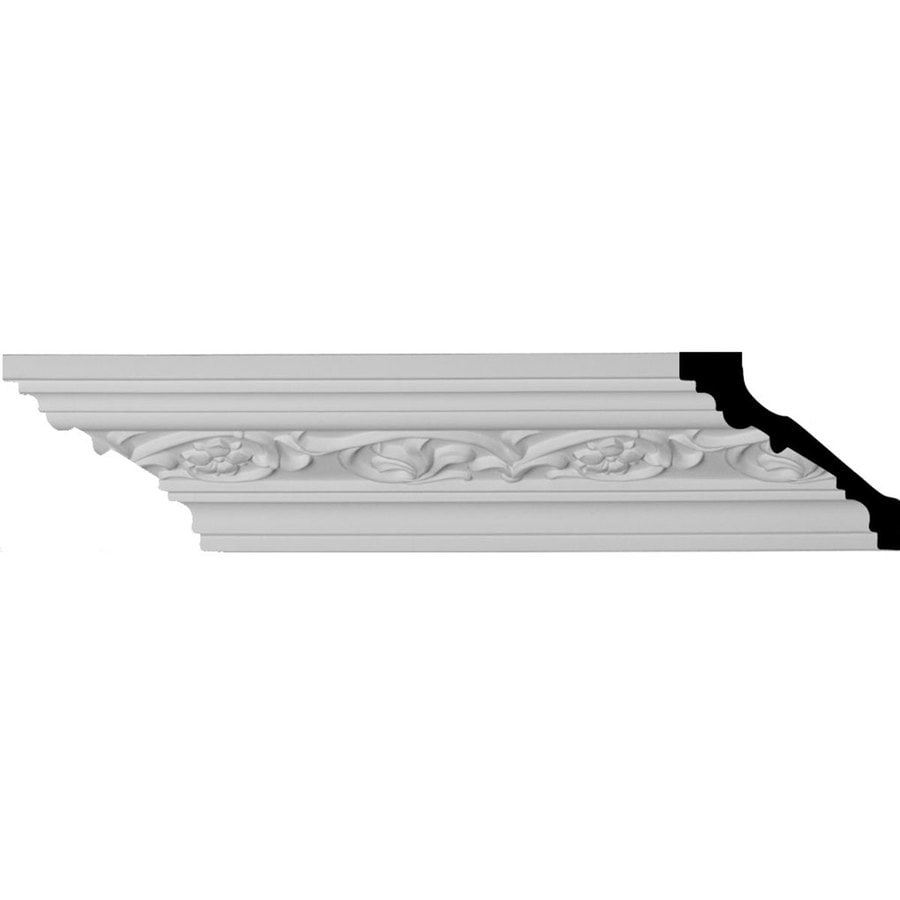 Ekena Millwork 3-in x 7.88-ft Polyurethane Medway Crown Moulding