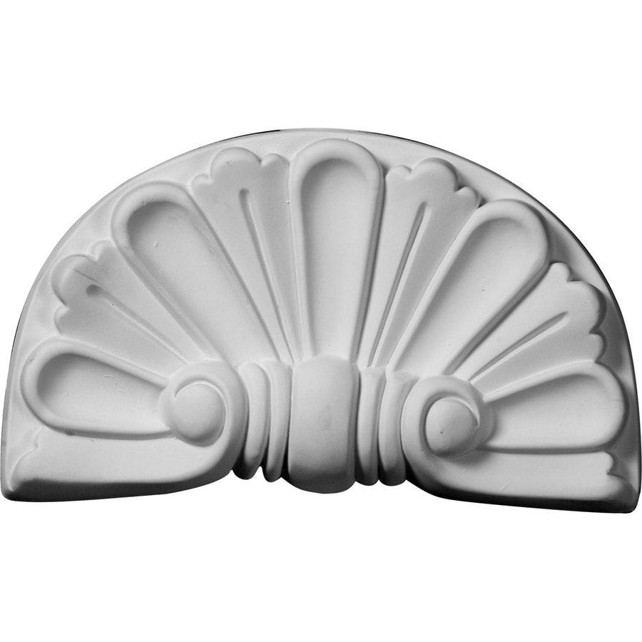 Ekena Millwork 9-in x 5.375-in Modern Shell Urethane Applique
