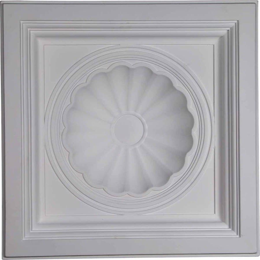 Ekena Millwork Shell Primed Patterned 3/4-in Drop Ceiling Tiles (Common: 24-in x 24-in; Actual: 23.875-in x 23.875-in)