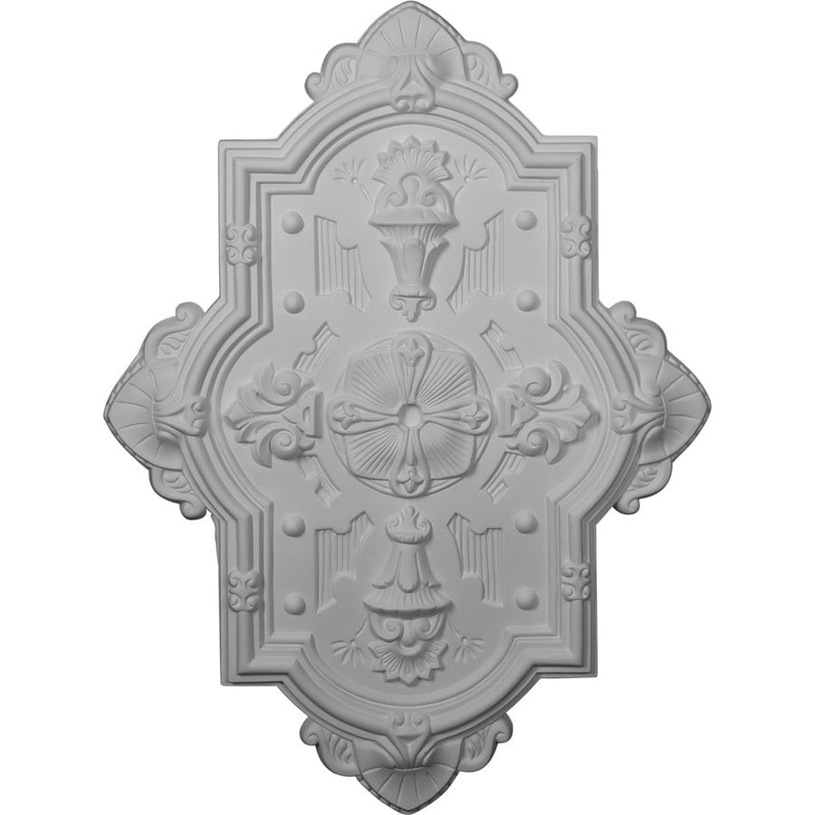 Ekena Millwork Cathedral 29.125-in x 38.125-in Polyurethane Ceiling Medallion