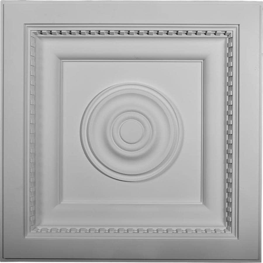 Ekena Millwork Ashford White Patterned 3/4-in Drop Ceiling Tiles (Common: 24-in x 24-in; Actual: 23.875-in x 23.875-in)
