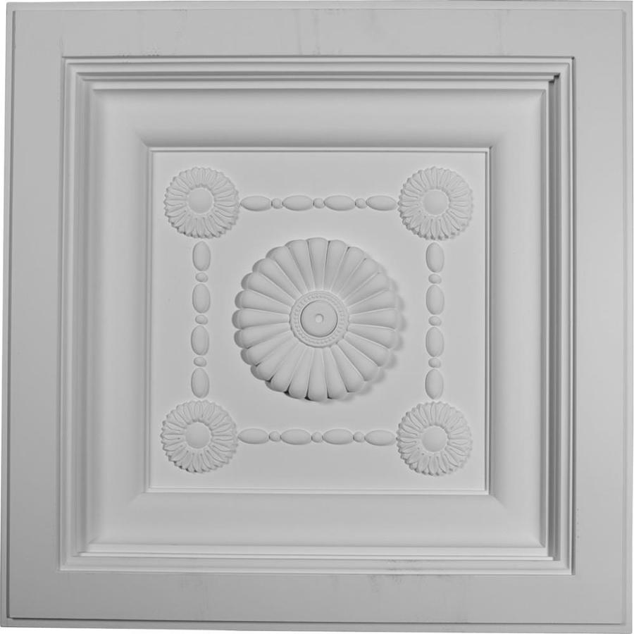 Ekena Millwork Logan White Patterned 3/4-in Drop Ceiling Tiles (Common: 24-in x 24-in; Actual: 24-in x 24-in)