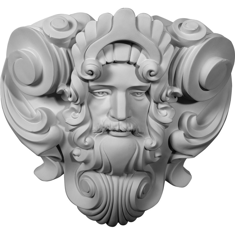 Ekena Millwork 16.75-in x 17.375-in Zeus Urethane Applique