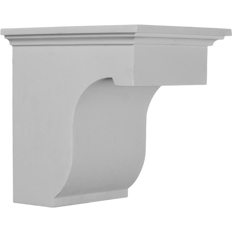 Ekena Millwork 6.875-in x 8-in White Legacy Urethane Corbel