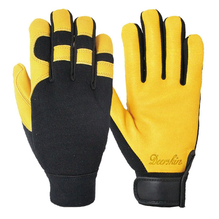 Blue Hawk Medium Men's Leather Palm Multipurpose Gloves