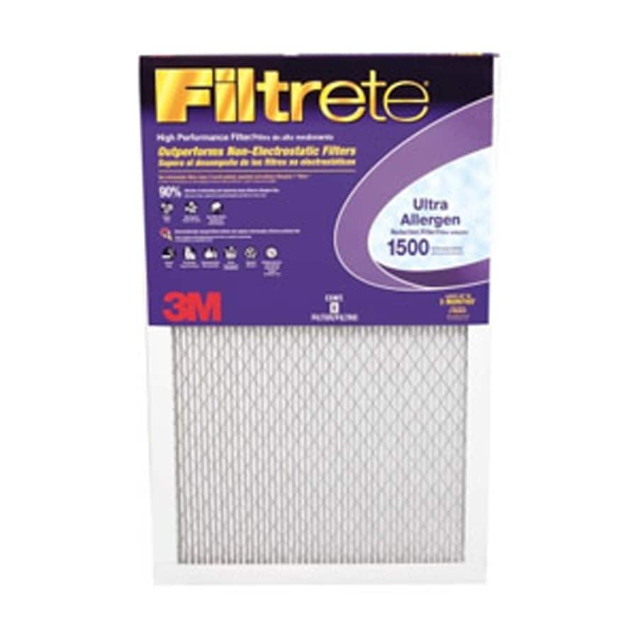 Filtrete (Common: 15-in x 36-in x 1-in; Actual: 14.875-in x 35.875-in x .80-in) 6-Pack 1500 Series Electrostatic Pleated Air Filters