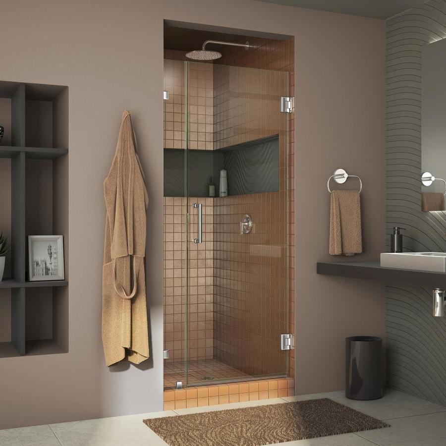 DreamLine Unidoor Lux 29-in to 29-in Frameless Hinged Shower Door