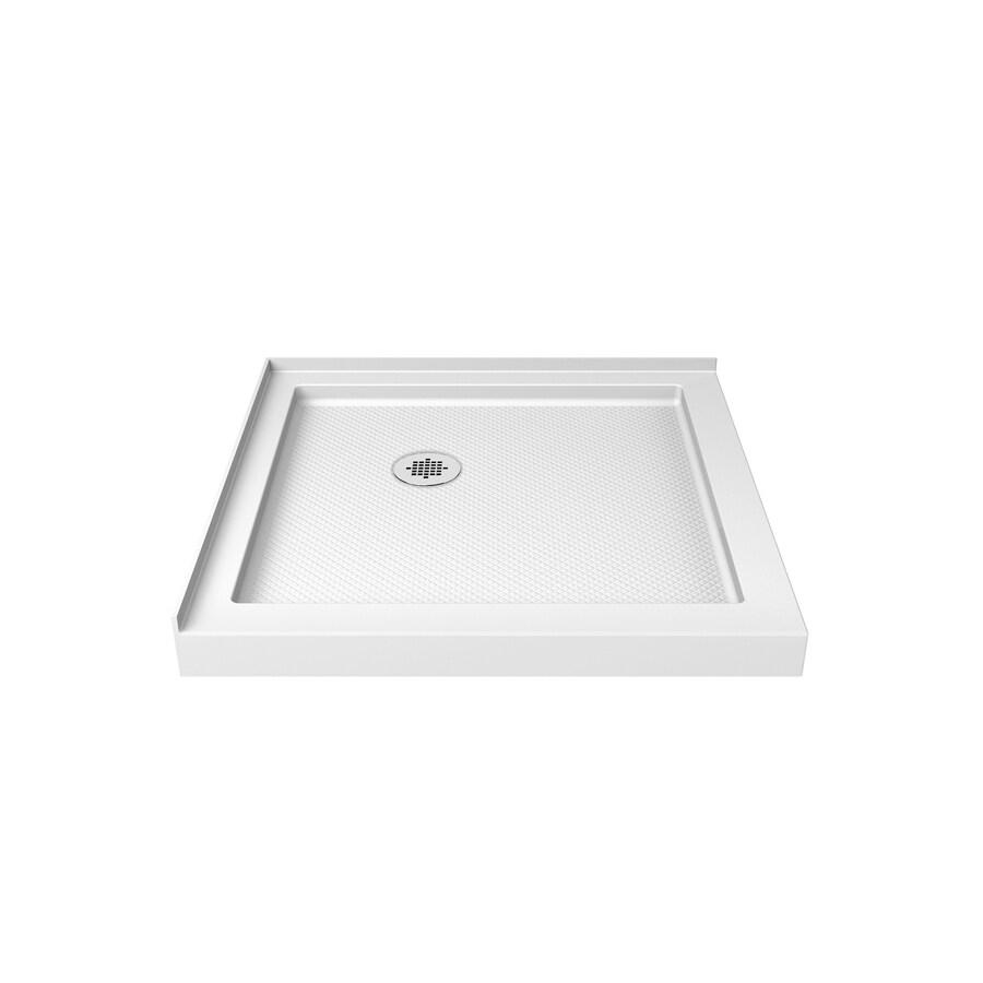 DreamLine SlimLine 32-in L x 32-in W White Acrylic Square Corner Shower Base