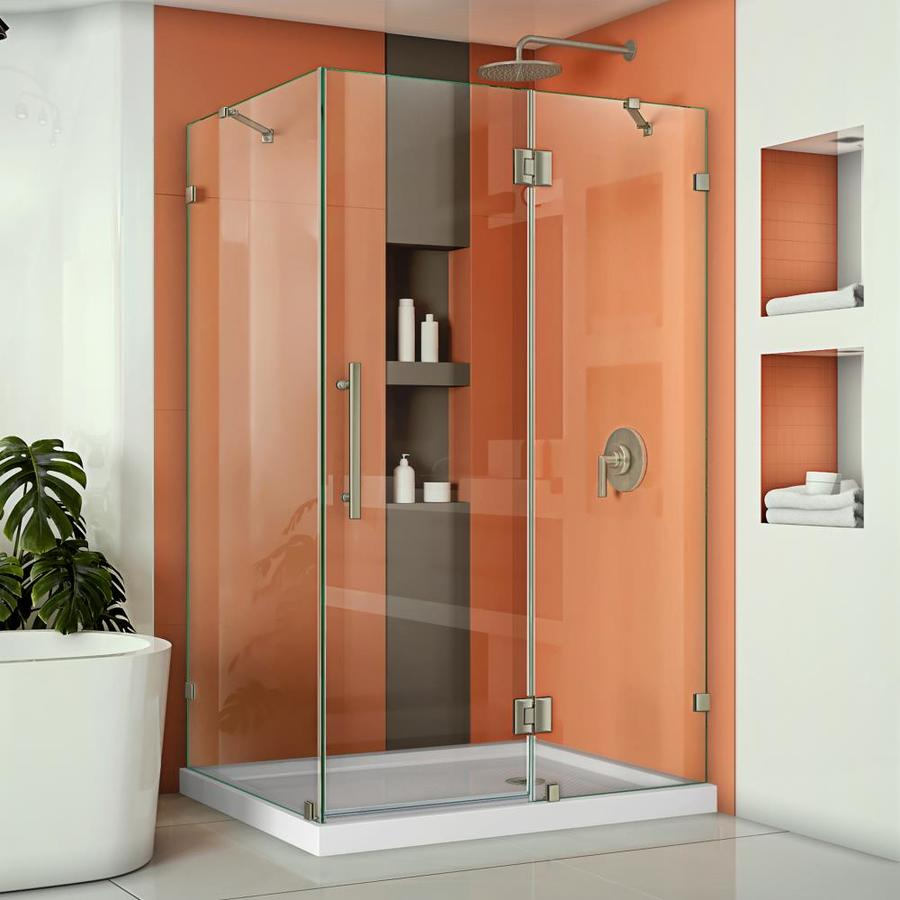 DreamLine Quatra Lux 46.3125-in to 46.3125-in Frameless Hinged Shower Door