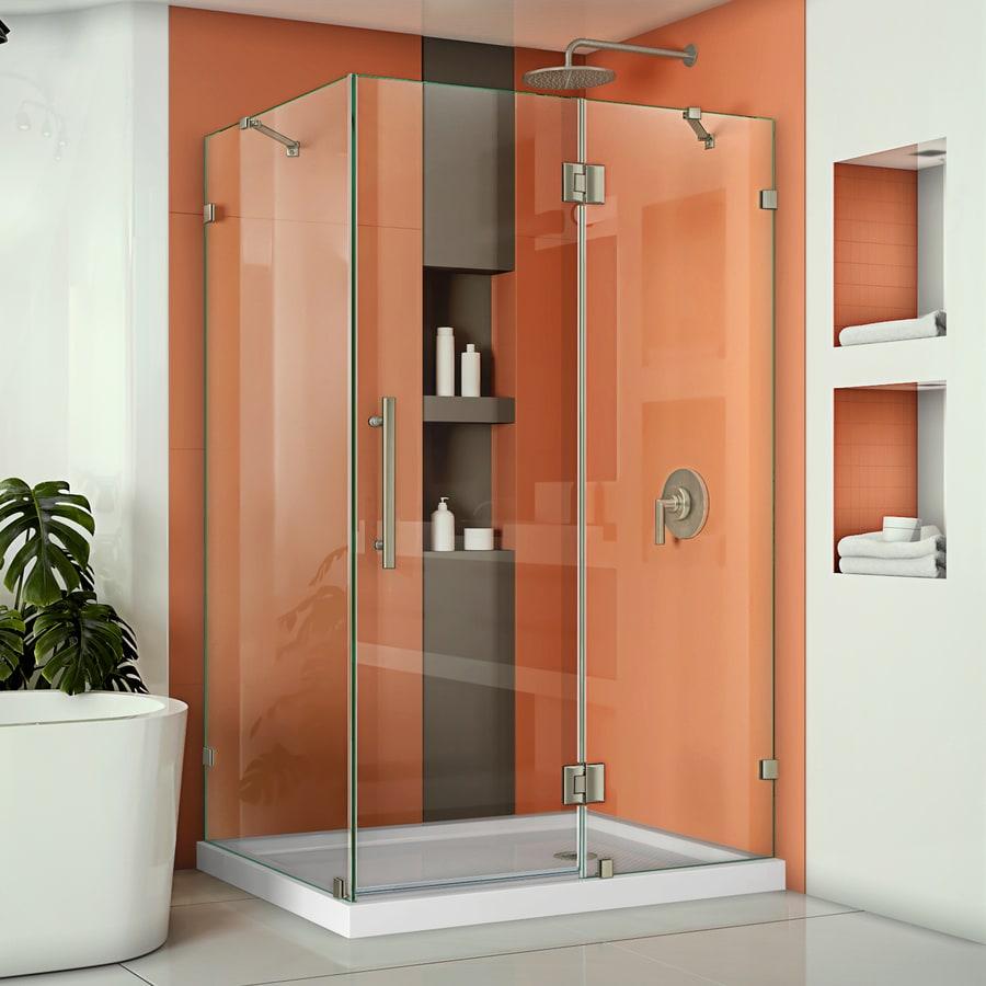 DreamLine Quatra Lux 46.3125-in to 46.3125-in Frameless Hinged Shower Door
