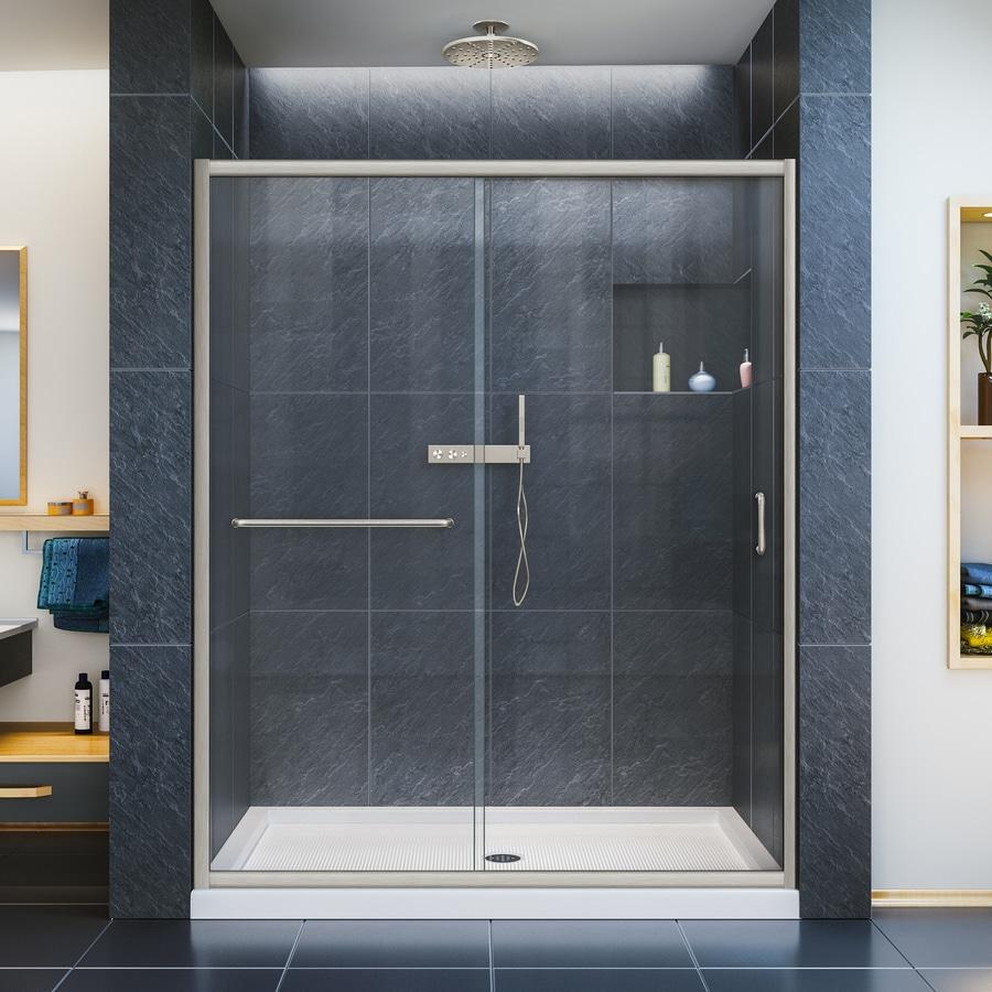 Shop dreamline infinity z 56 in to 60 in w x 72 in h for Bifold bathroom door designs