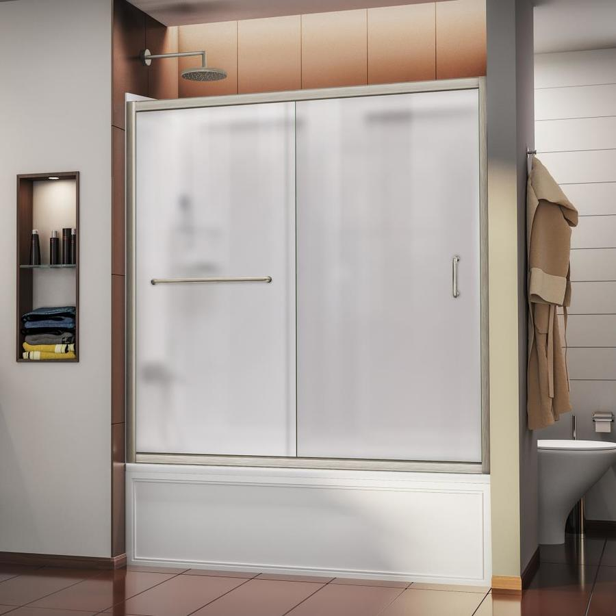DreamLine Infinity-Z Brushed Nickel Acrylic Wall 2-Piece Alcove Shower Kit (Common: 32-in x 60-in; Actual: 60-in x 32-in x 60-in)