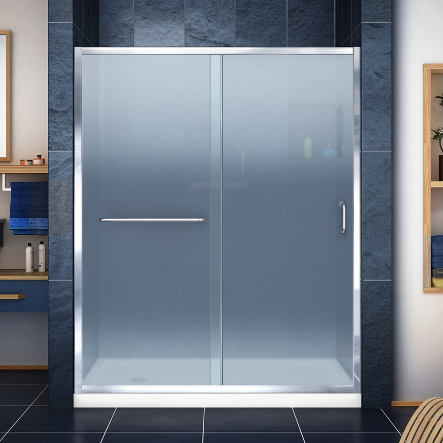 DreamLine Infinity-Z Chrome Acrylic Floor 2-Piece Alcove Shower Kit (Common: 32-in x 60-in; Actual: 74.75-in x 32-in x 60-in)