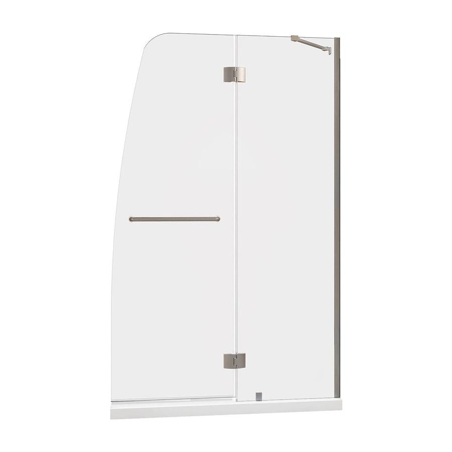 DreamLine Aqua Brushed Nickel Acrylic Floor 2-Piece Alcove Shower Kit (Common: 32-in x 60-in; Actual: 74.75-in x 32-in x 60-in)