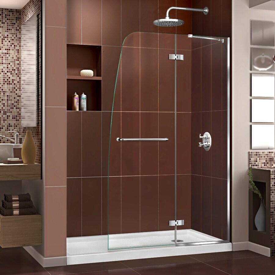 DreamLine Aqua Ultra Chrome Acrylic Floor 2-Piece Alcove Shower Kit (Common: 30-in x 60-in; Actual: 74.75-in x 30-in x 60-in)