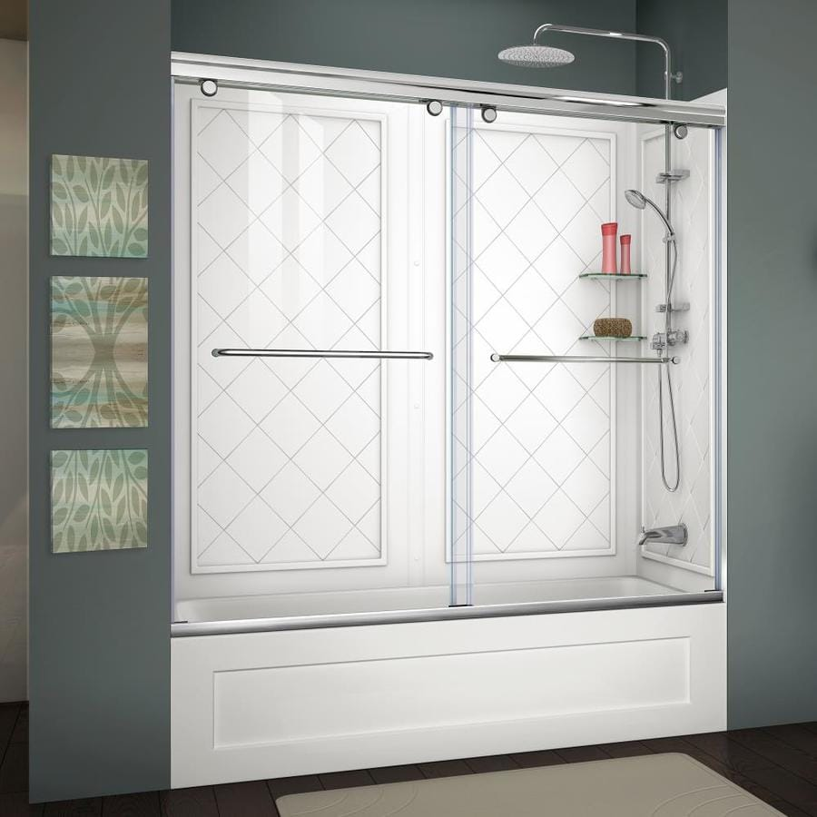 2 piece tub shower. KDTS 2954 Alcove Or Tub Showers  Shop Dreamline Charisma Chrome Acrylic Wall 2 Piece