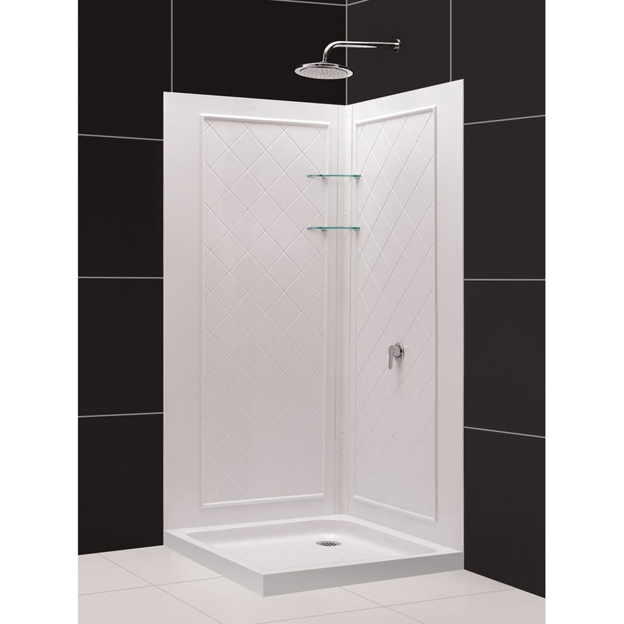 DreamLine Qwall-4 Shower Wall Surround Corner Wall Panel (Common: 40-in; Actual: 74-in x 40-in)