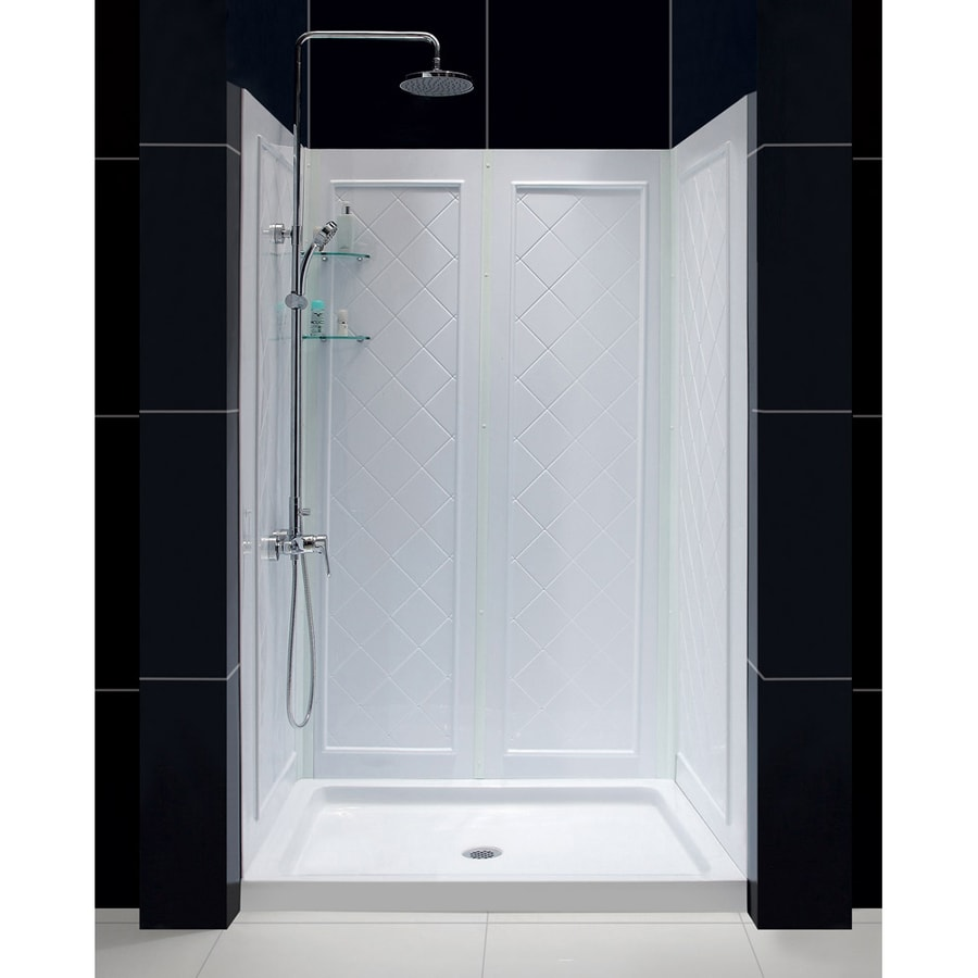 DreamLine Qwall-5 Shower Wall Surround Side and Back Panels (Common: 50-in; Actual: 74-in x 50-in)
