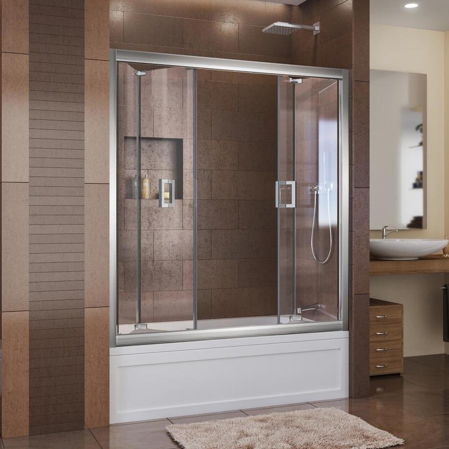 DreamLine Butterfly 59-in W x 58-in H Frameless Bathtub Door