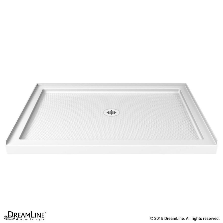 DreamLine Slimline White Acrylic Shower Base (Common: 32-in W x 48-in L; Actual: 32-in W x 48-in L)