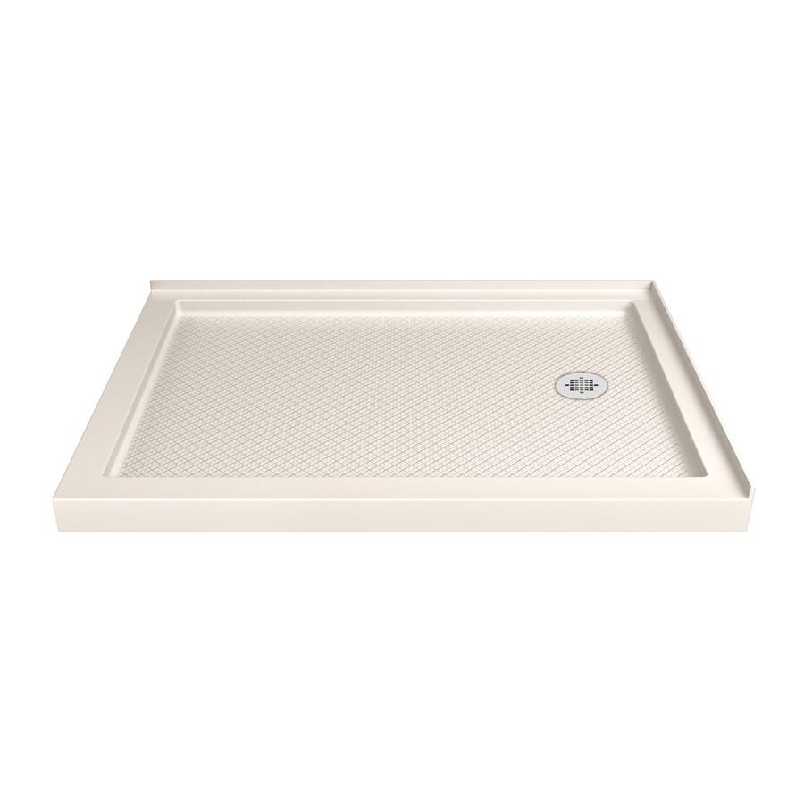 DreamLine SlimLine 34-in L x 48-in W Biscuit Acrylic Rectangle Corner Shower Base