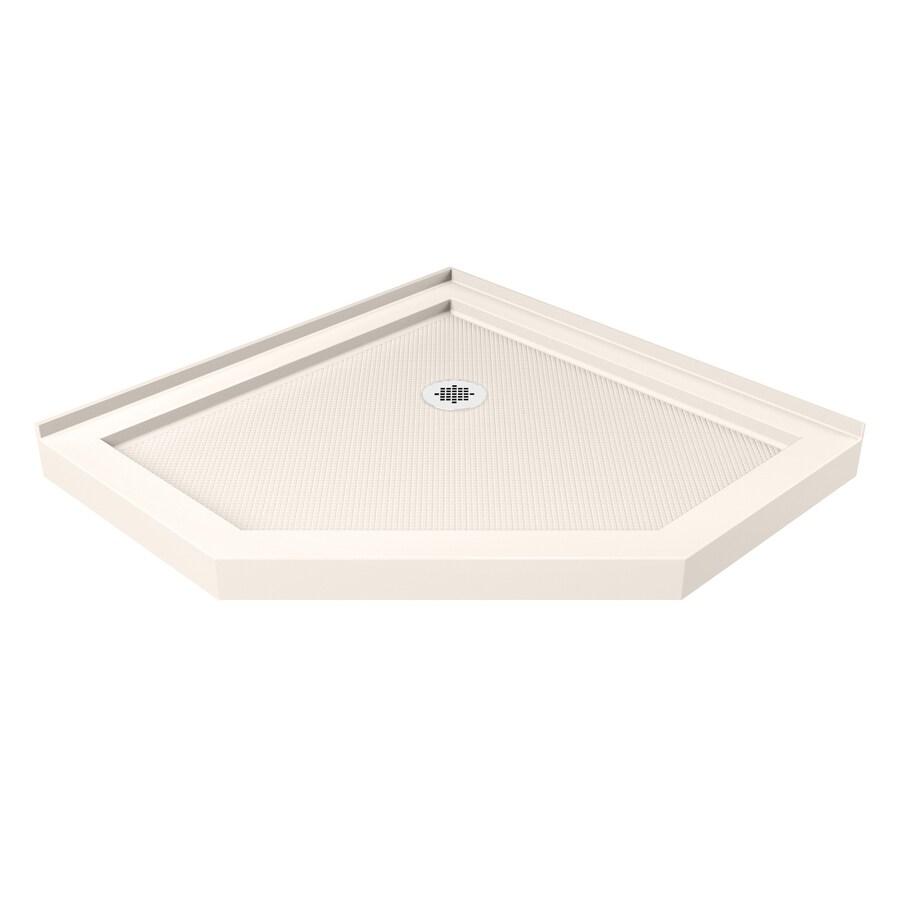 DreamLine SlimLine 38-in L x 38-in W Biscuit Acrylic Neo-Angle Corner Shower Base