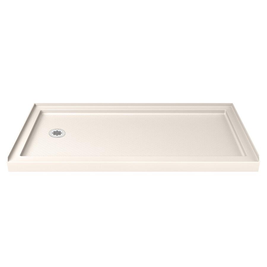 DreamLine SlimLine Biscuit Acrylic Shower Base (Common: 34-in W x 60-in L; Actual: 34-in W x 60-in L)