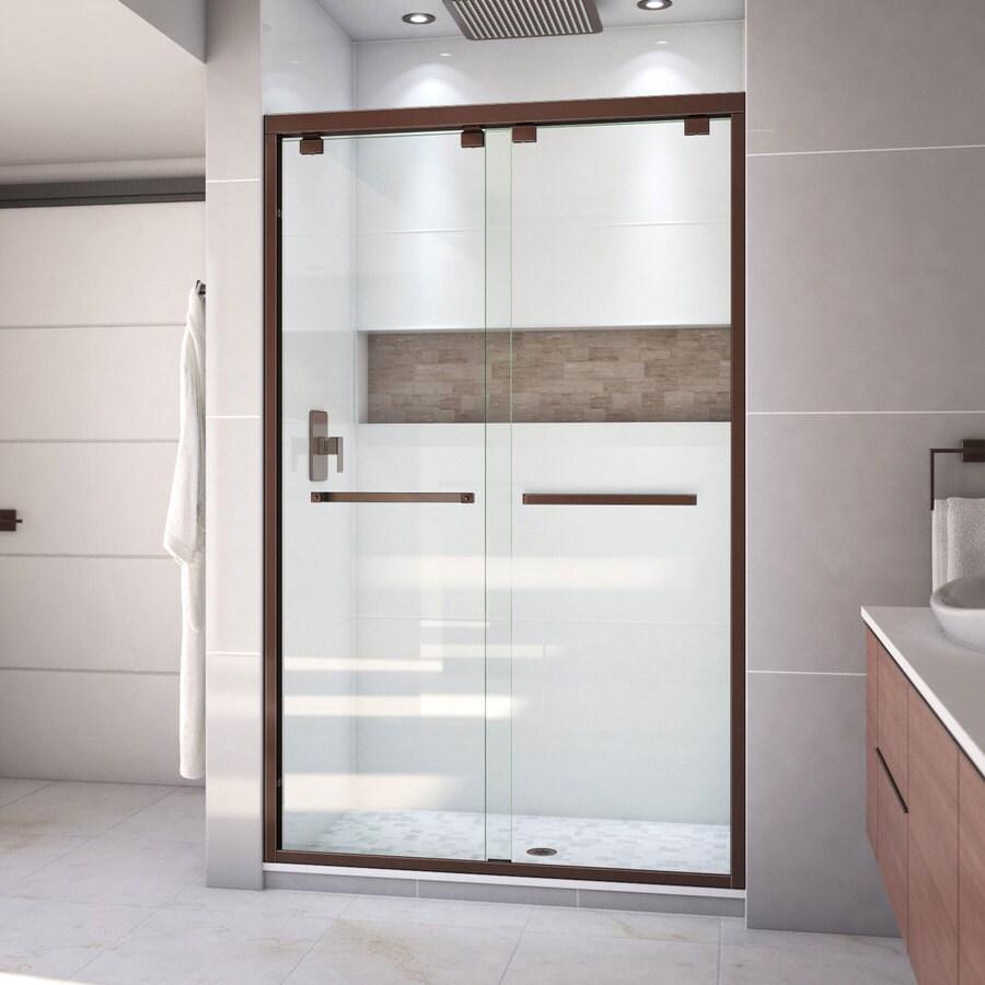 DreamLine Encore 44-in to 48-in W x 76-in H Oil-Rubbed Bronze Sliding Shower Door