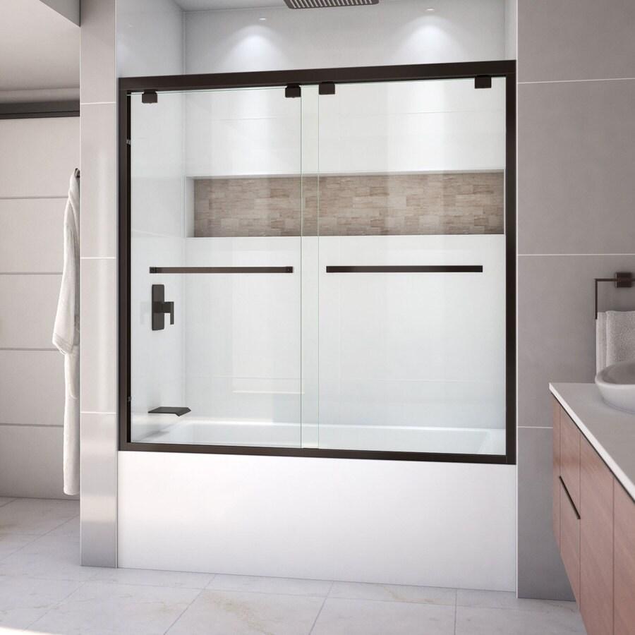 DreamLine Encore 60-in W x 58-in H Frameless Bathtub Door