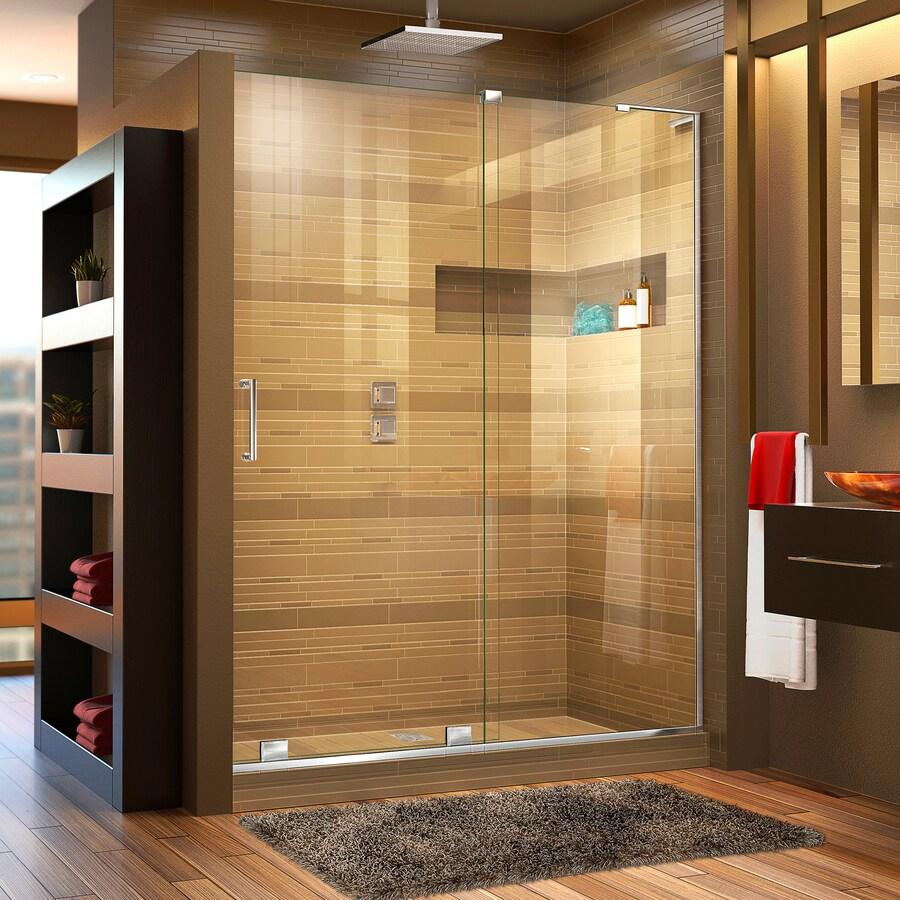 DreamLine Mirage-X 56-in to 60-in W x 72-in H Chrome Sliding Shower Door