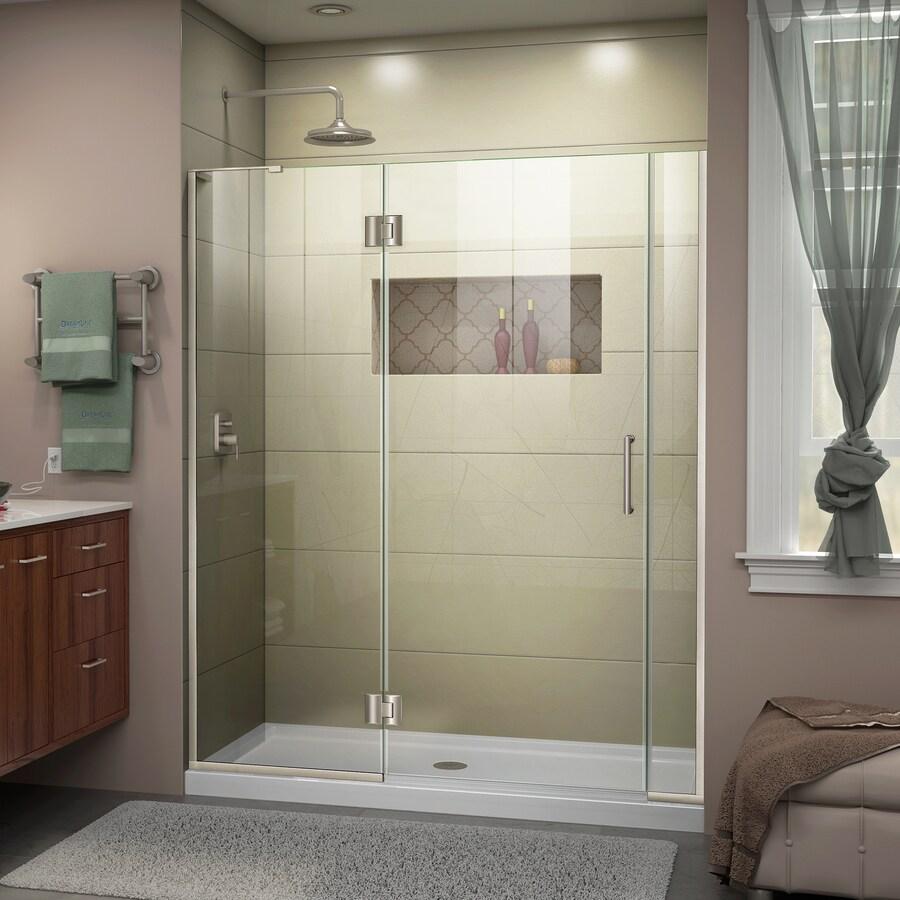 DreamLine Unidoor-X 55-in to 55.5-in Frameless Hinged Shower Door
