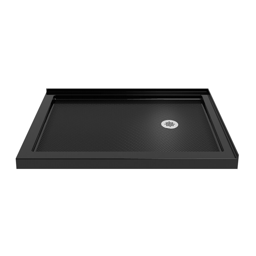 DreamLine Slimline 48-in L x 34-in W Black Acrylic Rectangle Corner Shower Base