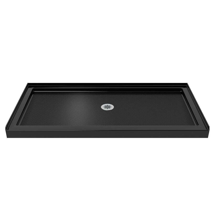 DreamLine SlimLine Black Acrylic Shower Base (Common: 30-in W x 60-in L; Actual: 30-in W x 60-in L)