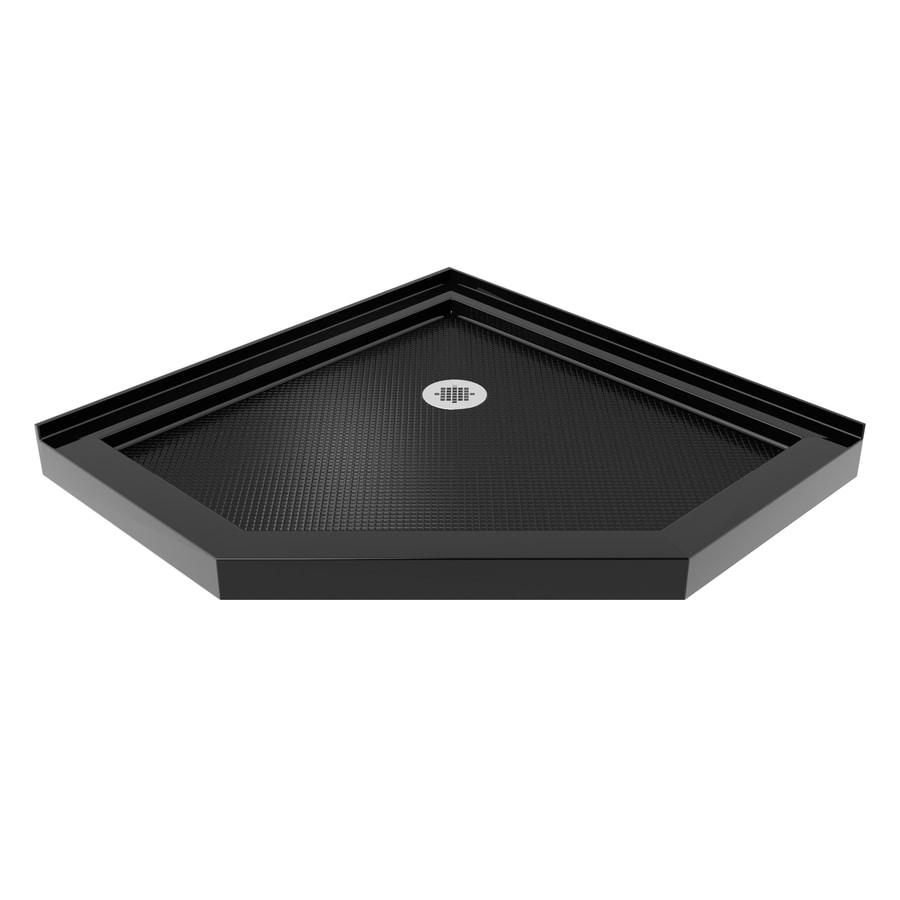 DreamLine Slimline 38-in L x 38-in W Black Acrylic Neo-Angle Corner Shower Base