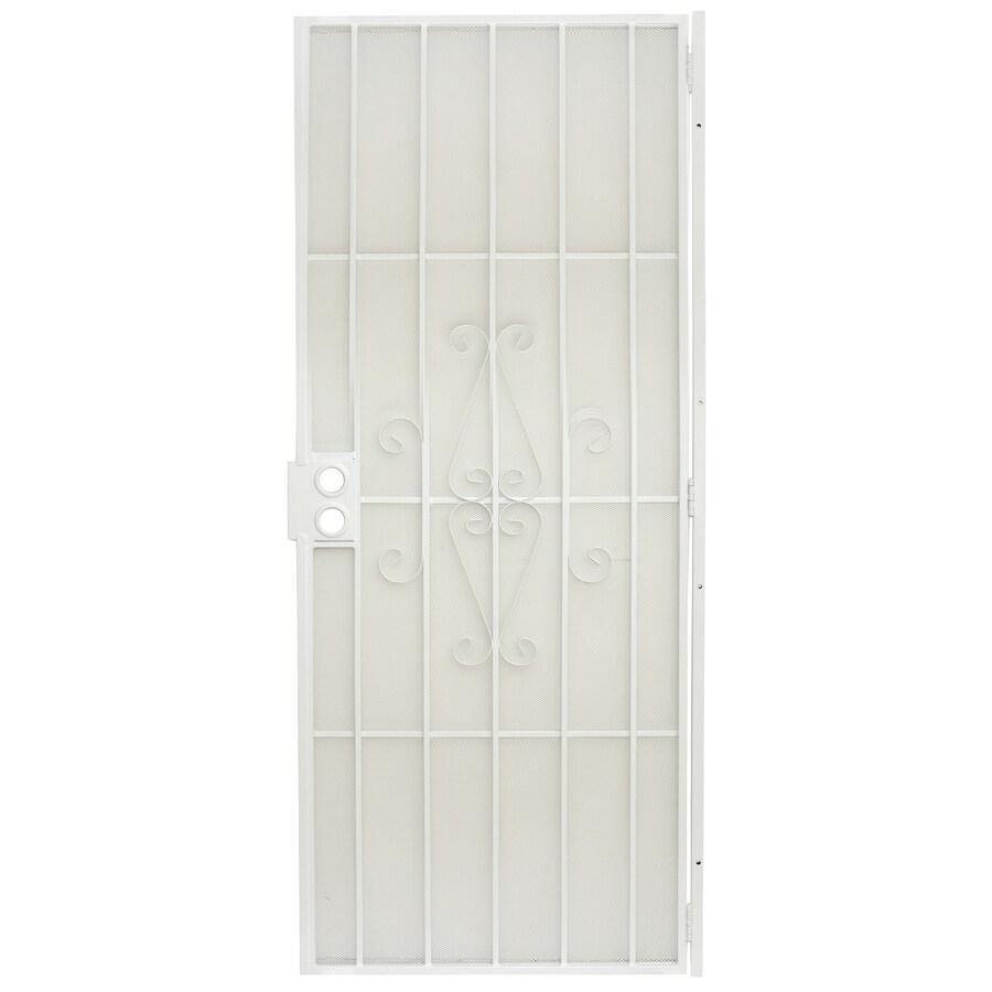 Gatehouse Magnum White Steel Security Door (Common: 32-in x 80-in; Actual: 34.5-in x 81-in)