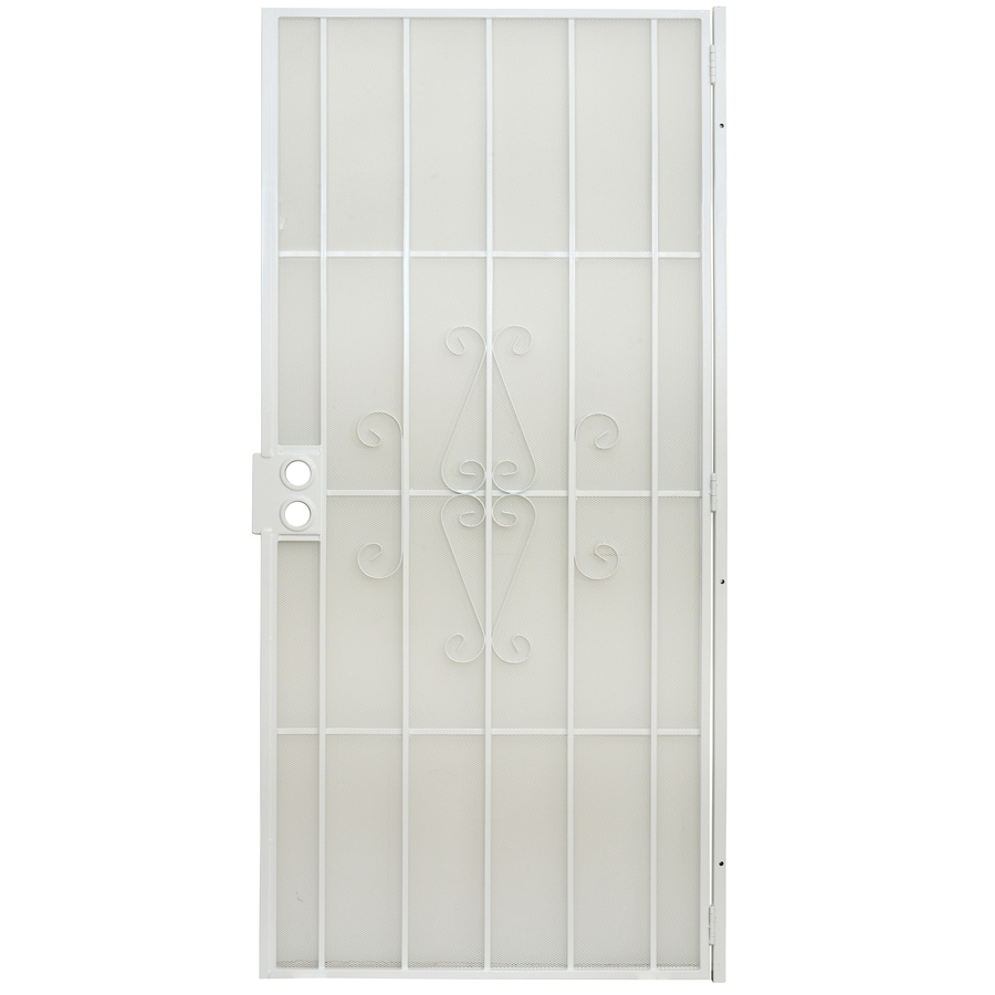 Gatehouse Magnum White Steel Security Door (Common: 36-in x 80-in; Actual: 38.5-in x 81-in)