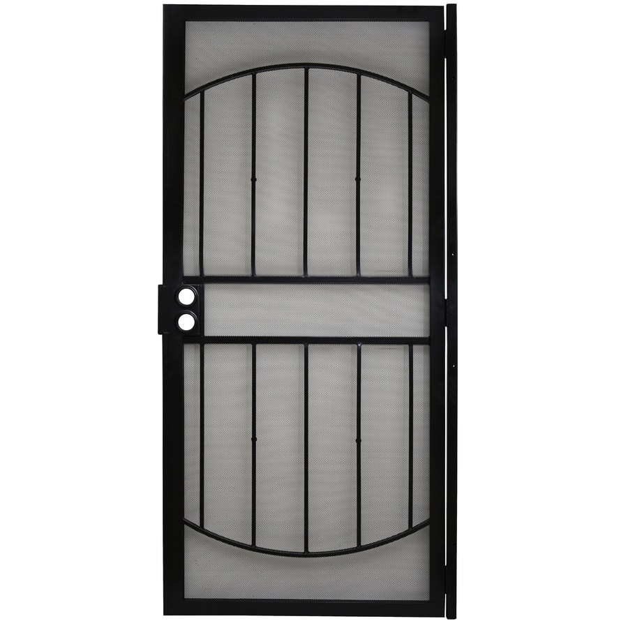 Gatehouse Gibraltar Black Steel Security Door (Common: 36-in x 80-in; Actual: 39-in x 81-in)