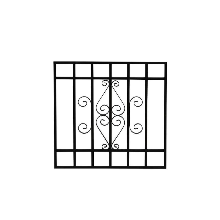 Gatehouse 24-in Black Magnum Window Security Bar